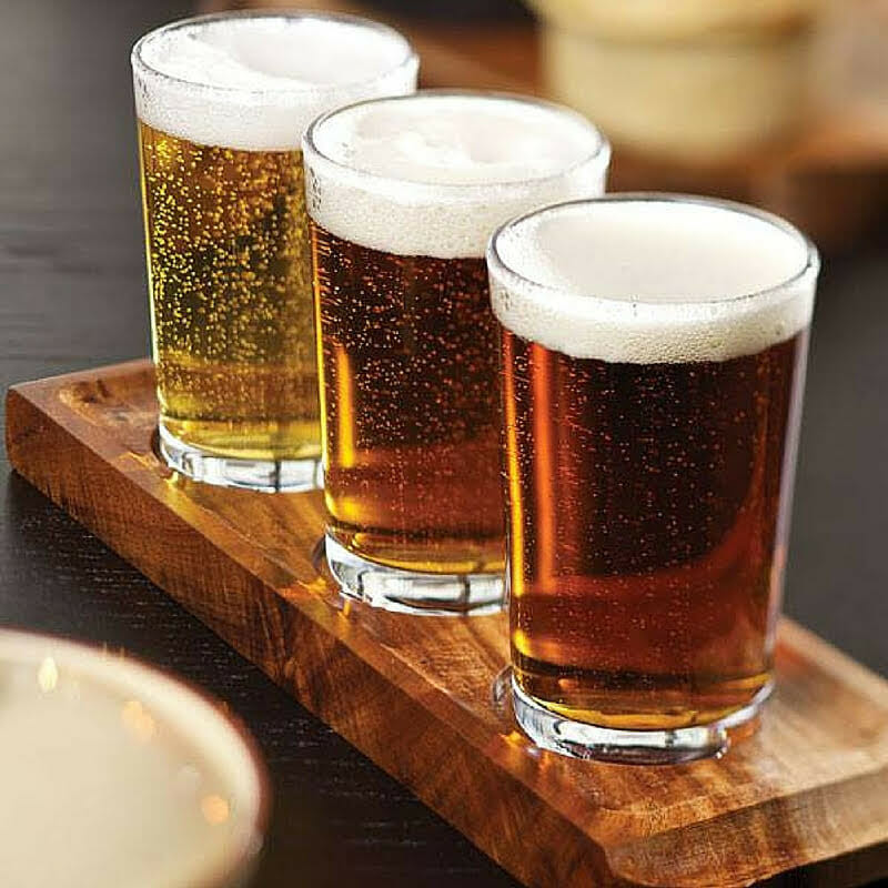 3 beer glasses